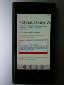 Un newsletter en Windows Phone