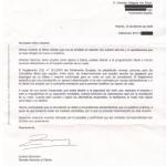 Carta de Iberia del 15 de febrero de 2008