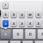 Caracteres acentuados iPad