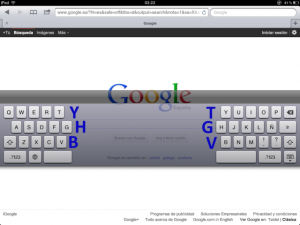 Teclado secreto del iPad