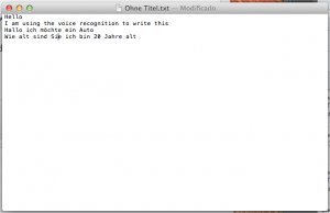 Textedit dictado y habla Apple Mountain Lion
