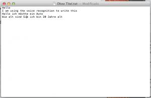 Textedit dictado y habla Apple Mountain Lion