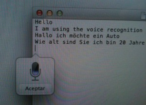 Usando dictado y habla en el Textedit (Apple Mountain Lion)