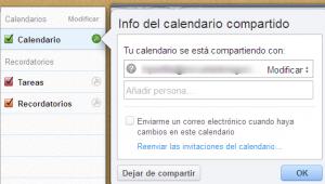 Calendario compartido vía web con iCloud