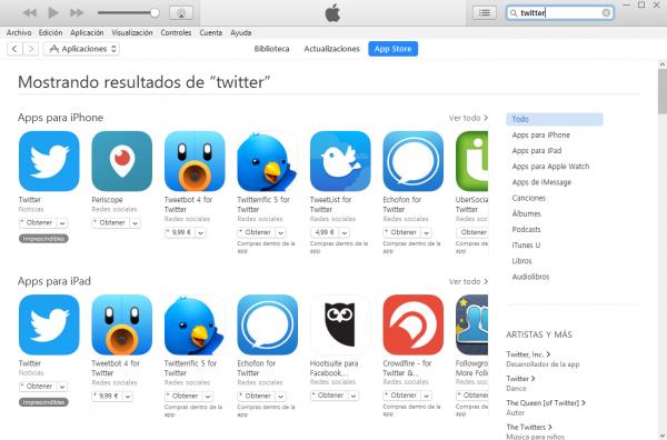 Buscar app gratis en iTunes para crear cuenta sin tarjeta de crédito