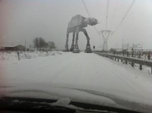 AT-AT en la carretera, ejemplo de Weibo