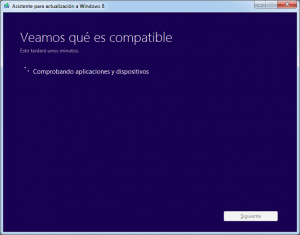 Comprobando compatibilidad con Windows 8