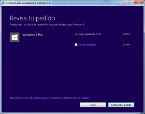 Windows 8 - revisa tu pedido