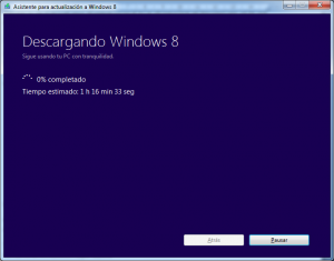 Descargando Windows 8 Pro
