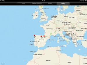 Aplicación de fotos en el iPad, lugares