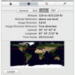 Metadatos usando vista previa en el Mac