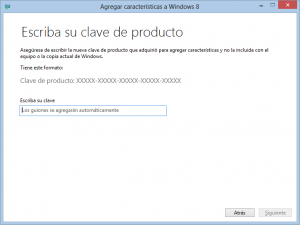 Agregar características a Windows 8 (Windows Media Center)