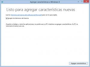 Agregar características a Windows 8 (Windows Media Center)