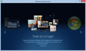 Windows Media Center en Windows 8 Pro