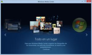 Windows Media Center en Windows 8 Pro