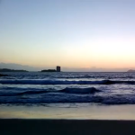 Probando la cámara de vídeo de un Nokia Lumia 920 en la playa de Samil
