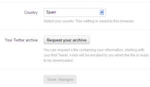 boton de descargar todos los tuits 300x175 Truco para que aparezca el botón de descargar todos los tuits en la web de Twitter (o no) [Actualizado]