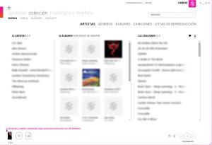 Colección de música en Zune