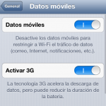 Desactivar 3G en el iPhone