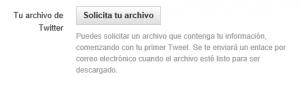 Ya se pueden descargar los tuits con el idioma puesto en español
