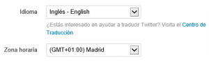 selector de idioma en cuenta de twitter 300x90 Truco para que aparezca el botón de descargar todos los tuits en la web de Twitter (o no) [Actualizado]
