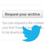 Truco para que aparezca el botón de descargar todos los tuits en la web de Twitter (o no)