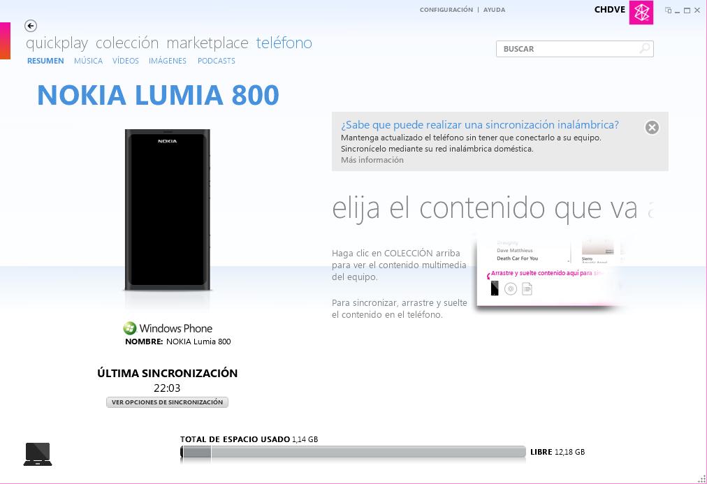 ZUNE NOKIA LUMIA 510