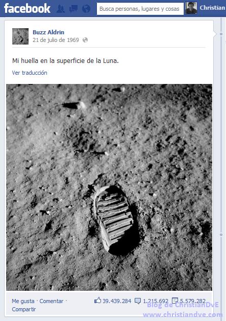 Facebook de Buzz Aldrin - El hombre aterriza en la Luna