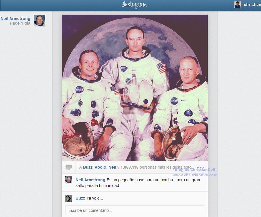 Instagram de Neil Armstrong - El hombre aterriza en la Luna