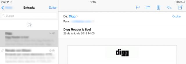 Actualizar el correo electrónico (en iOS 7)