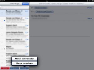 Marcar todos como leídos todos los correos en el iPad, iPhone y iPod