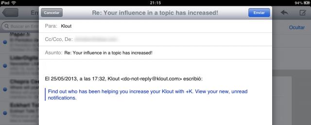 Responder a una parte del correo iPad - resultado