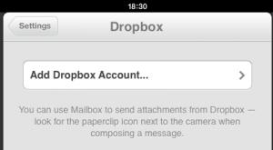 Vincular Dropbox y Mailbox