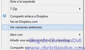 Ver versiones anteriores en Dropbox