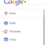 Menú desplegable de Google+