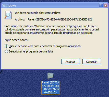 God Mode en Windows XP - No va