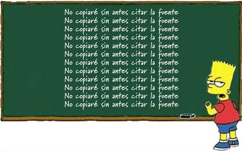 Bart: no copiar sin citar la fuente (Autor: desconocido)