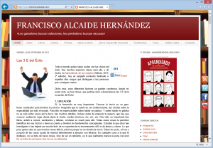 Blog de Francisco Alcaide