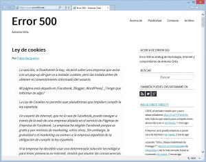 Error 500 - El blog de Antonio Ortiz