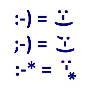 Algunos emoticonos textuales