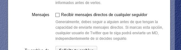 Recibir mensajes directos de cualquier cuenta en Twitter