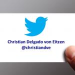 Tarjeta de visita de Christian Delgado von Eitzen en Twitter
