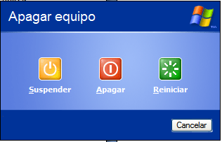 Apagar Windows - Windows XP (no aparece hibernar)