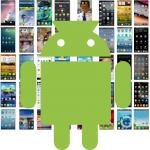 Pantalla de inicio de Android y apps más utilizadas de usuarios de redes sociales