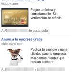 Anuncios sociales reales de Facebook
