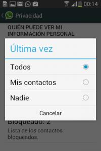Cómo configurar quién puede ver mi última conexión con WhatsApp