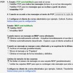 Configuración del POP e IMAP en Gmail
