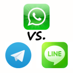 WhatsApp vs. Telegram vs. Line