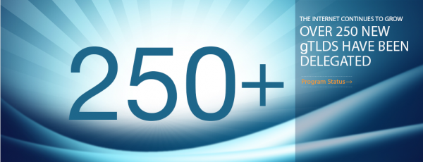 250 gTLDs han sido ya delegados