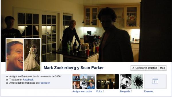 Historial de amistad entre Mark Zuckerberg y Sean Parker